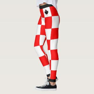 Legging Escolha SEU bordo canadense da cor Checkered
