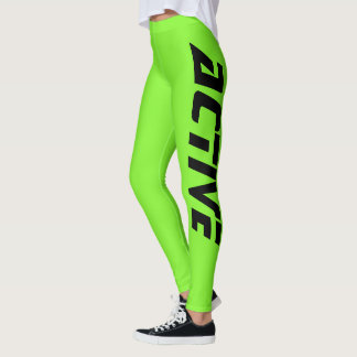 Legging Esporte ativo verde de néon