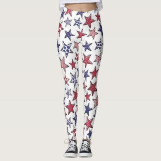 Legging Estrelas brancas de Estados Unidos e azuis