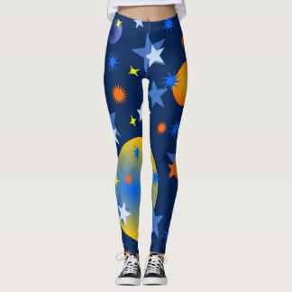 Legging Estrelas e planetas celestiais