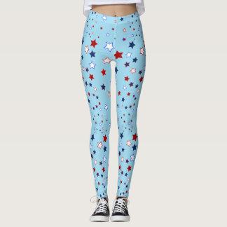 Legging Estrelas no vermelho, no branco e no azul