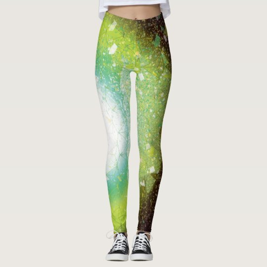 Legging Explosion mix green