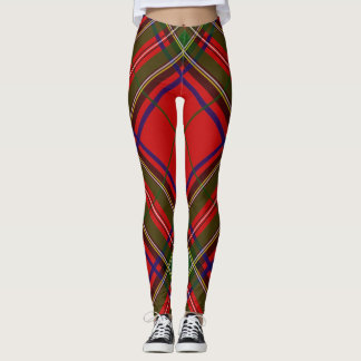 Legging Extra grande do Tartan de Stewart do clã -