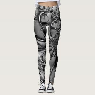 Legging Factal #6 em preto e branco