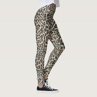 Legging Faísca do leopardo (tan)