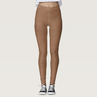 Legging Falso Brown natural de couro