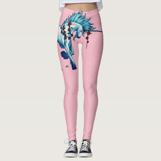 Legging Fantasia na moda do unicórnio em caneleiras
