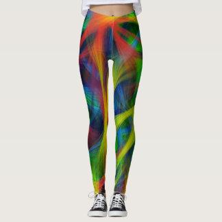 Legging Fibras abstratas
