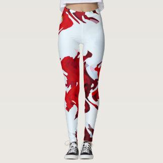 Legging Fitas vermelhas
