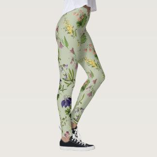 Legging Floral alpino botânico por todo o lado no