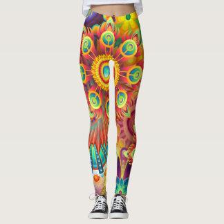 Legging Flores coloridas & psicadélicos