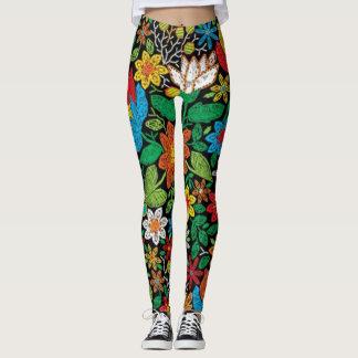 Legging Flores & Cores