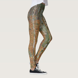 Legging Floresta do vidoeiro por Gustavo Klimt, arte