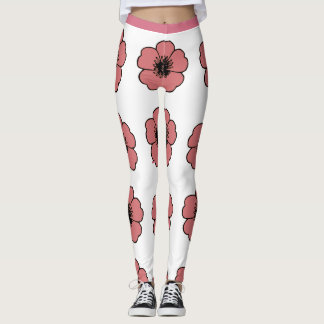 Legging Flower-Me-Peach-Floral_LEGGING'S_XS-XL