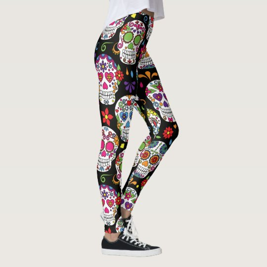 Legging Flower Skull