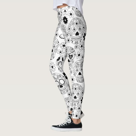 Legging Flowers Skull