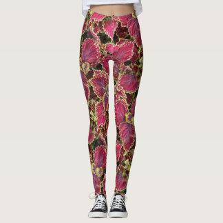 Legging Folhas do rosa