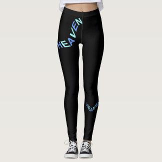 Legging Forma do CÉU Caneleira-Mulher-Azul/preto