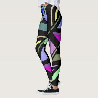 Legging Forma do divertimento Caneleira-Mulher-Colorido