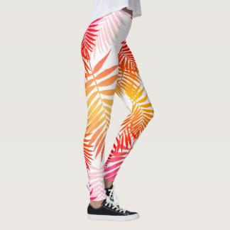 Legging Forma na moda do verão da folha adolescente da