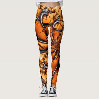 Legging Fractal alaranjado #6