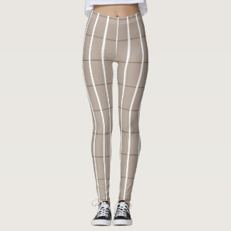 Legging Fresco-Verão-Xadrez-Bege (c) - LEGGING'S_XS-XL