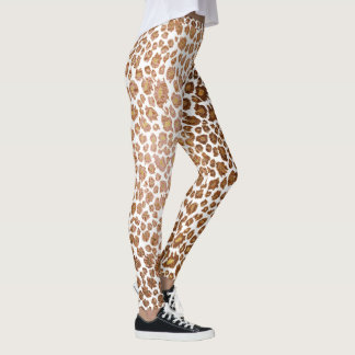 Legging Fundo do leopardo/falso Metallic/DIY de PixDezines