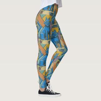 Legging Gatos azuis do Cubist pela marca Hannon