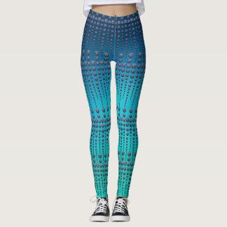 Legging Gemas azuis caneleiras elegantes manchadas do