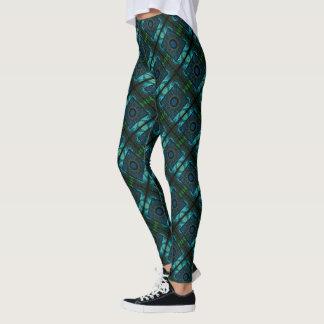 Legging Geometria azul & verde