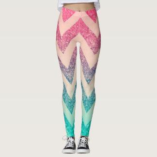 Legging Glittery à moda bonito, ziguezague