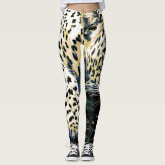 Legging Gráfico bonito do leopardo