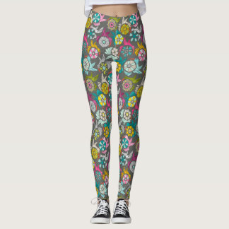 Legging grafite de papel dos sunbirds