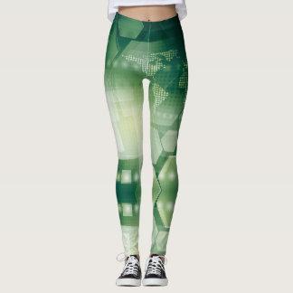 Legging Green Polygen World - Power yoga Ir