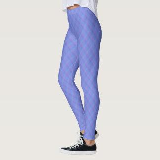 Legging Harlequin azul e roxo do Cornflower de Ombre