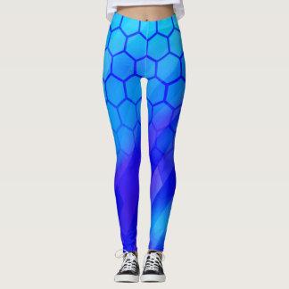 Legging Hexágono azul