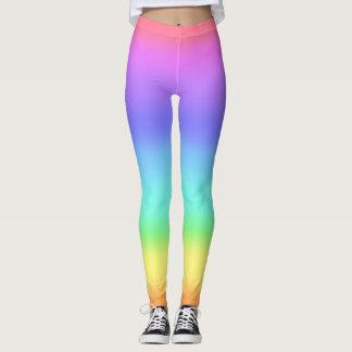 Legging hipster colorido do arco-íris do ombre de 80s 90s