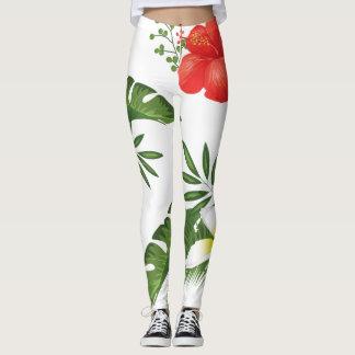 Legging ID475 Wedding floral tropical