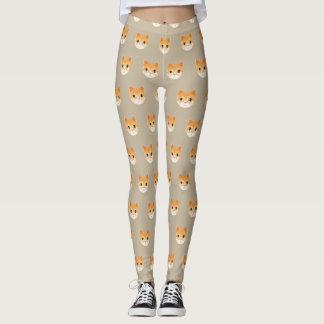 Legging Ilustração bonito do gato de gato malhado