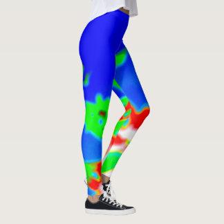 Legging imagem abstrata com cores lisérgicas