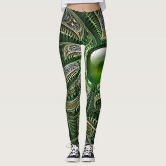 Legging Imagem do Fractal do jade
