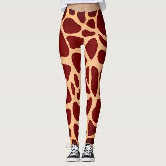 Legging Impressão animal do girafa do safari
