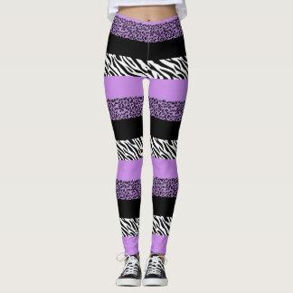 Legging Impressão animal, listras da zebra, leopardo -