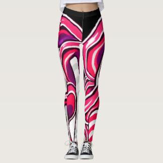 Legging Impressão cor-de-rosa Funky