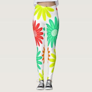 Legging Ioga brilhante do impressão floral