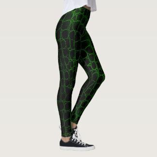 Legging Jacaré preto e verde