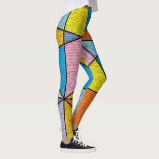 Legging Leggins abstratos coloridos do design