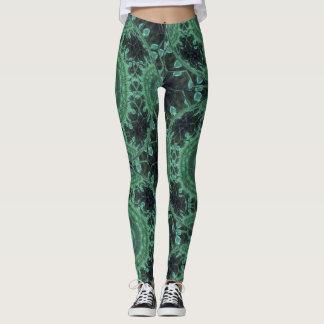 Legging Leggins astutos verdes dos oásis de Steampunk