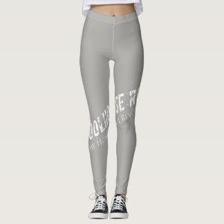 Legging Leggins cinzentos com logotipo do Wraparound
