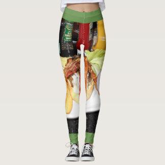Legging Leggins da comida